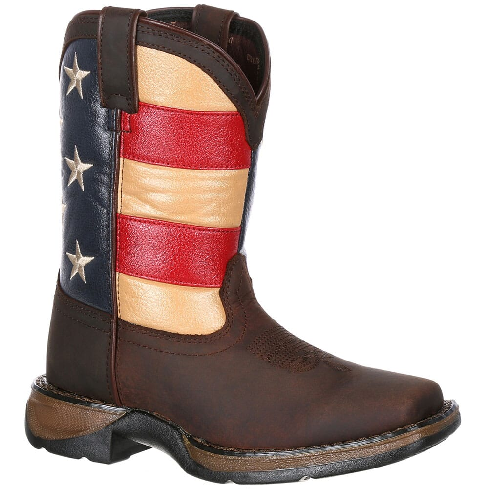 Image for Lil' Durango Little Kids' Flag Western Boots - Brown from bootbay