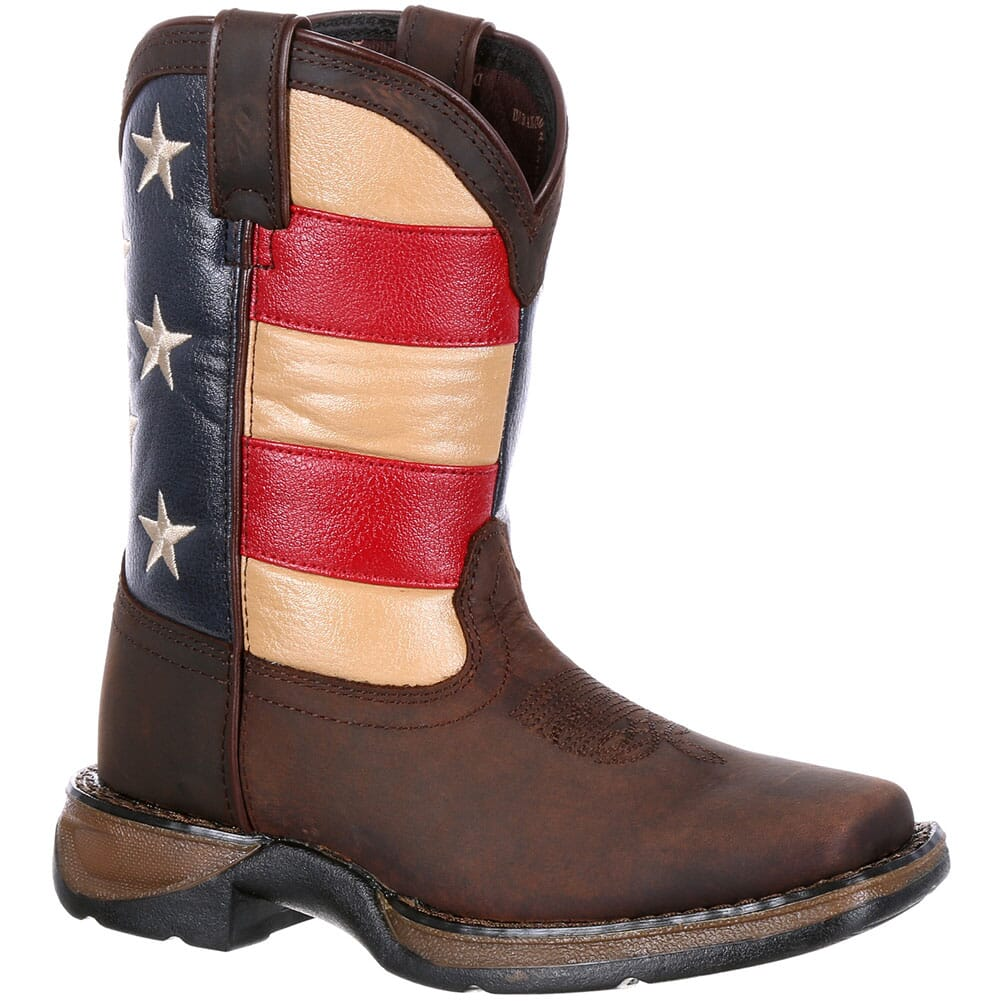 Image for Lil' Durango Big Kids' Flag Western Boots - Brown from bootbay
