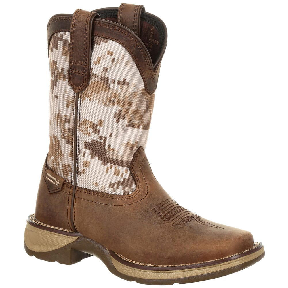 Image for Durango Lil' Rebel Big Kid's Western Boots - Dusty Brown/Desert Camo from bootbay