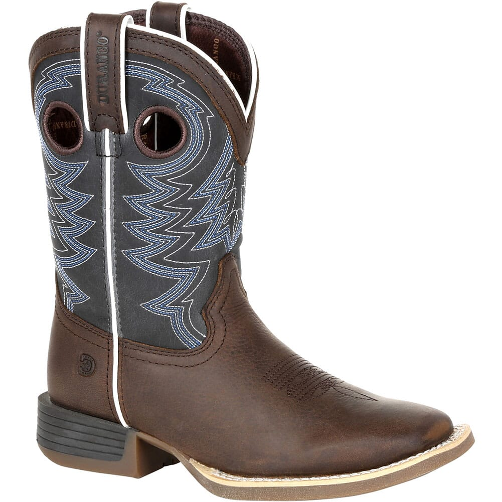 Image for Durango Lil' Rebel Pro Big Kid's Western Boots - Belgian Brown/Denim Bl from bootbay