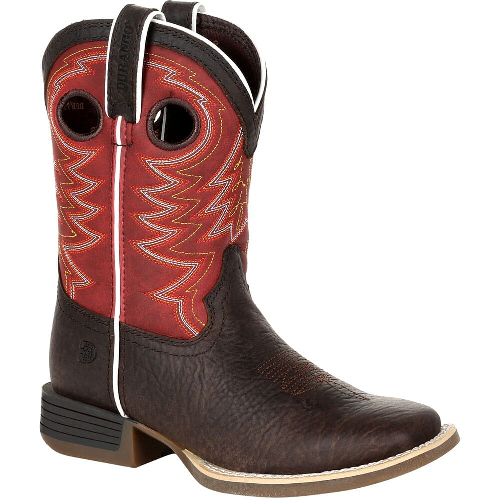 Image for Durango Lil' Rebel Pro Big Kid's Western Boots - Dark Chestnut/Crimson from bootbay