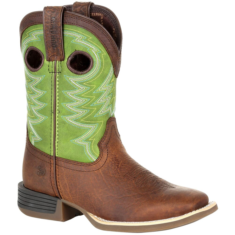 Image for Durango Lil' Rebel Pro Little Kid's Western Boots - Frontier Brown/Lime from bootbay