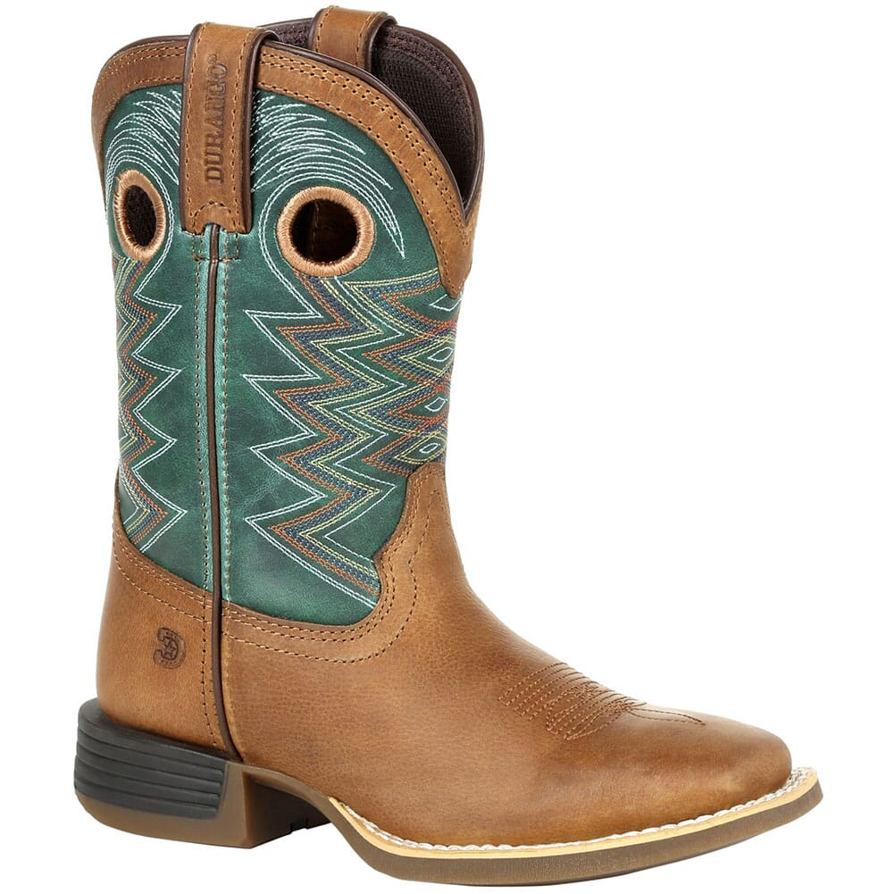Image for Durango Lil' Rebel Pro Little Kid's Western Boots - Teal/Tan from bootbay
