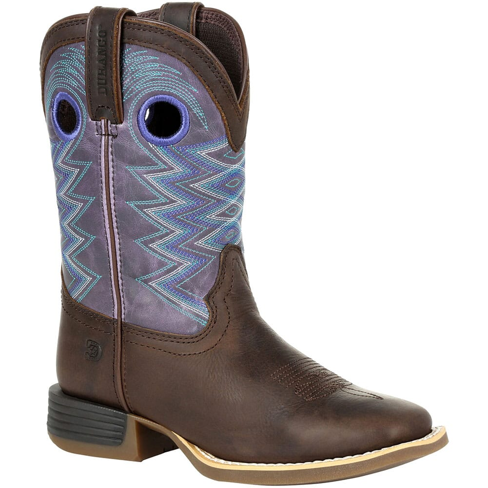 Image for Durango Lil' Rebel Pro Big Kid's Western Boots - Dark Earth/Amethyst from bootbay