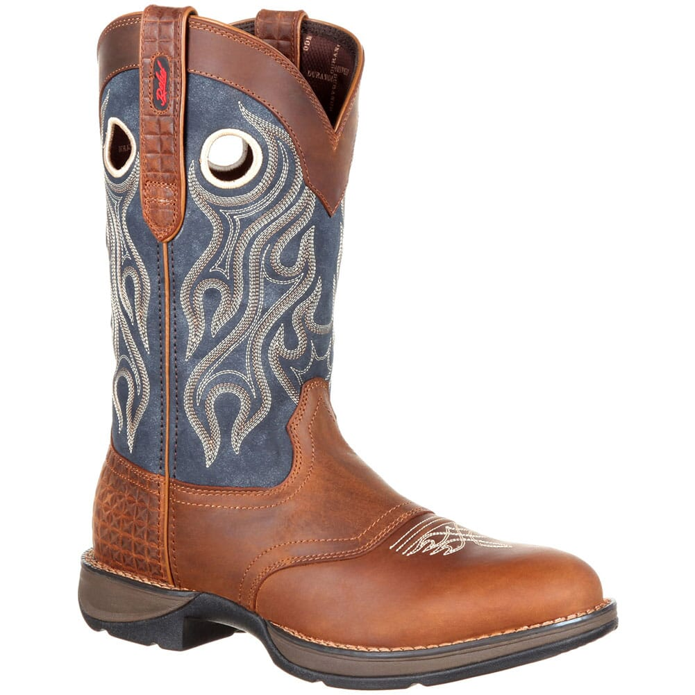 Image for Durango Men's Saddle Western Boots - Brown/Blue Jean from bootbay