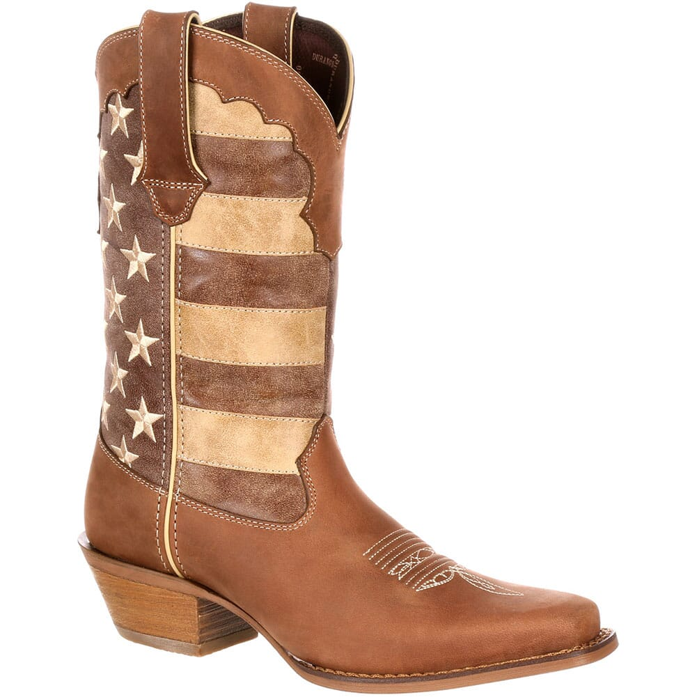 Image for Durango Women's Distressed Flag Boots - Brown/Union Flag from elliottsboots
