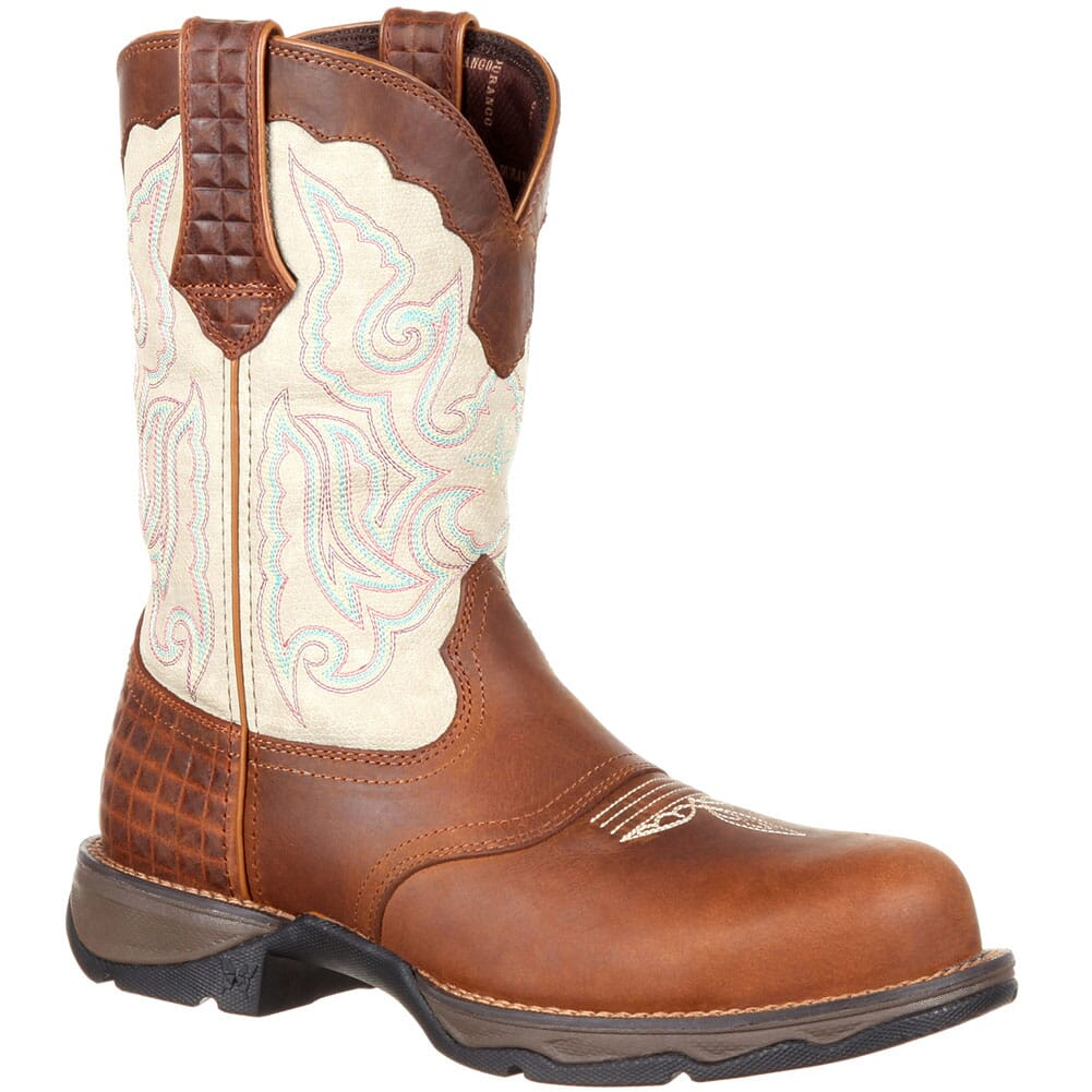 Image for Durango Women's Saddle Western Boots - Dark Brown/Cream from bootbay