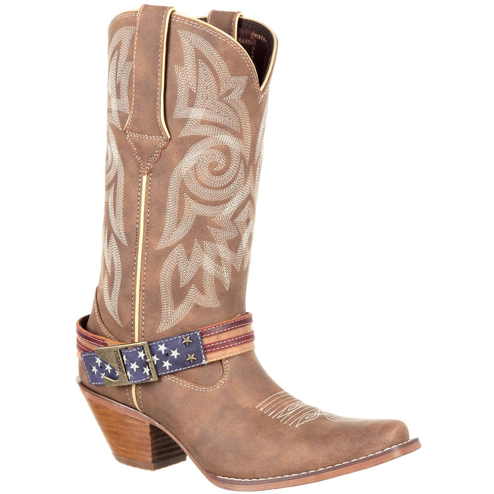 Image for Durango Women's Crush Flag Western Boots - Brown Khaki from bootbay