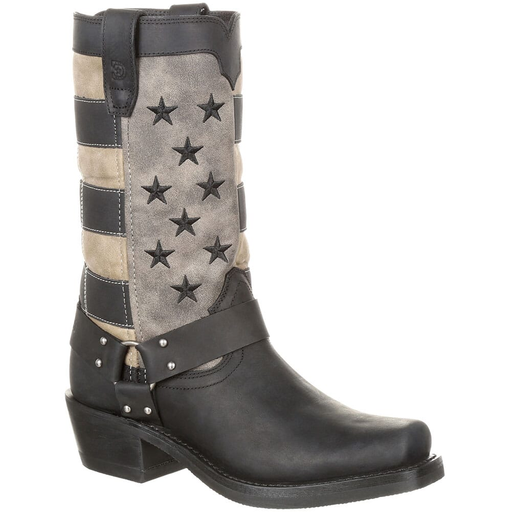 Image for Durango Women's Faded Flag Western Boots - Black/Charcoal Grey from elliottsboots