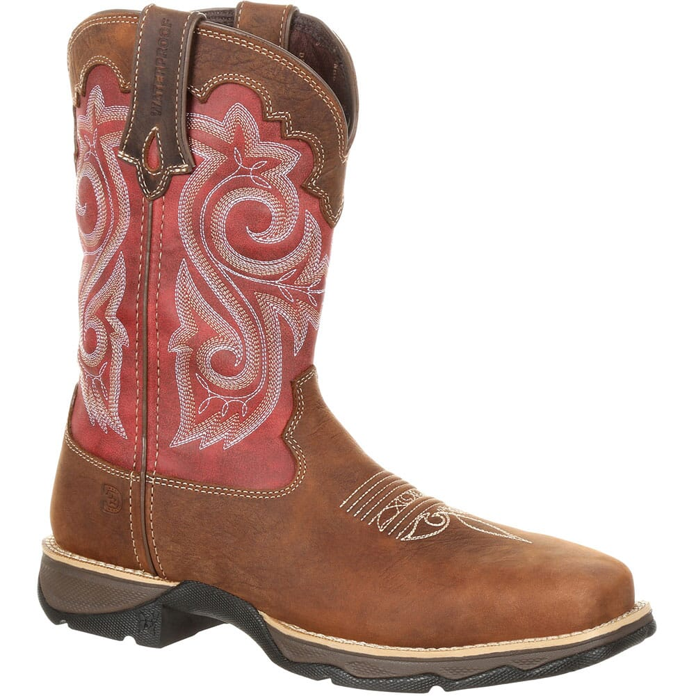Image for Durango Women's Lady Rebel WP Safety Boots - Briar Brown/Rusty Red from elliottsboots