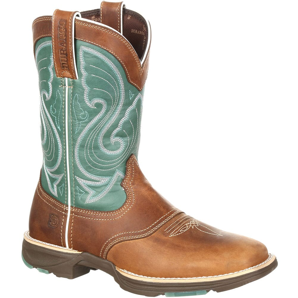 Image for Durango Women's Ultra-Lite Western Boots - Tan/Emerald from elliottsboots
