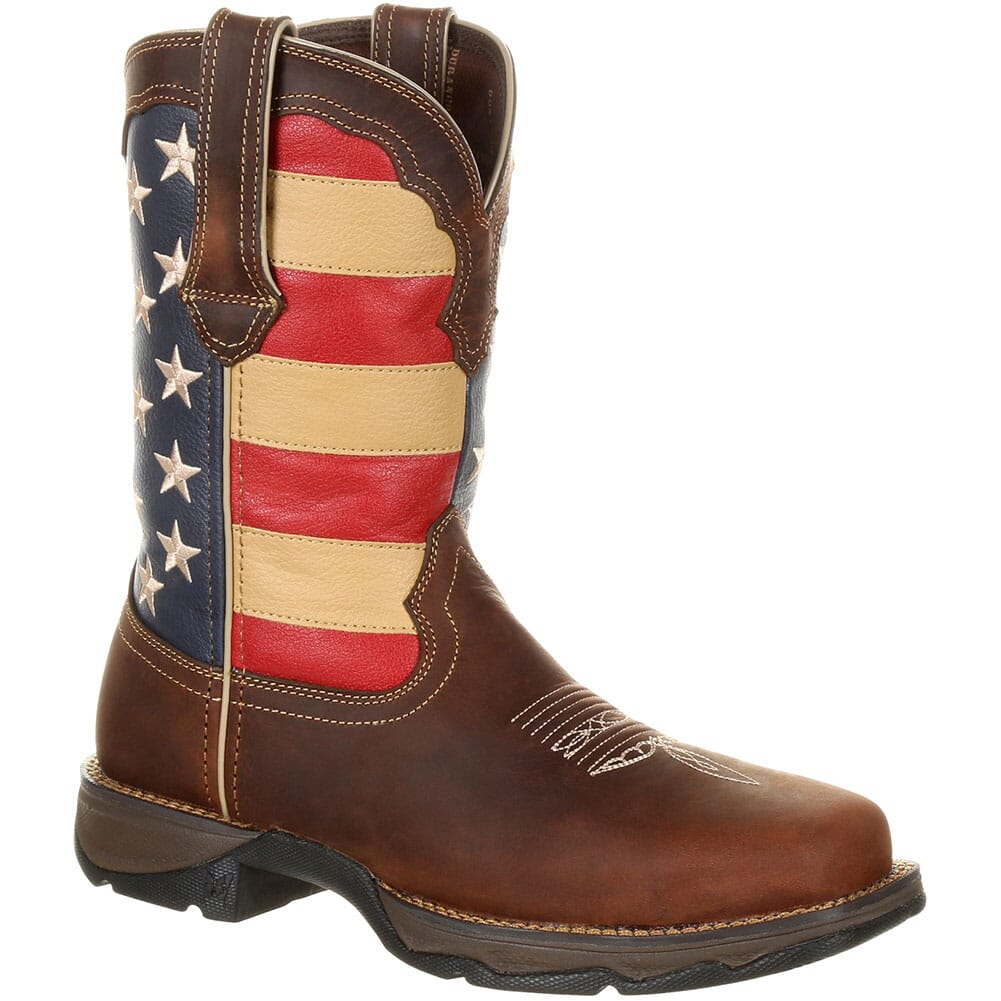 Image for Durango Women's Lady Rebel Safety Boots - Brown/Union Flag from elliottsboots