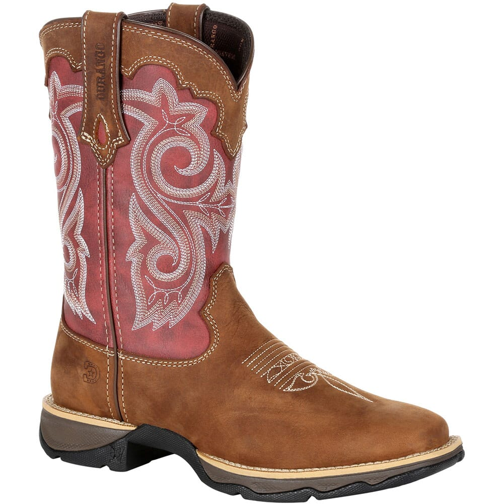 Image for Durango Women's Lady Rebel Western Boots - Briar Brown/Rusty Red from bootbay
