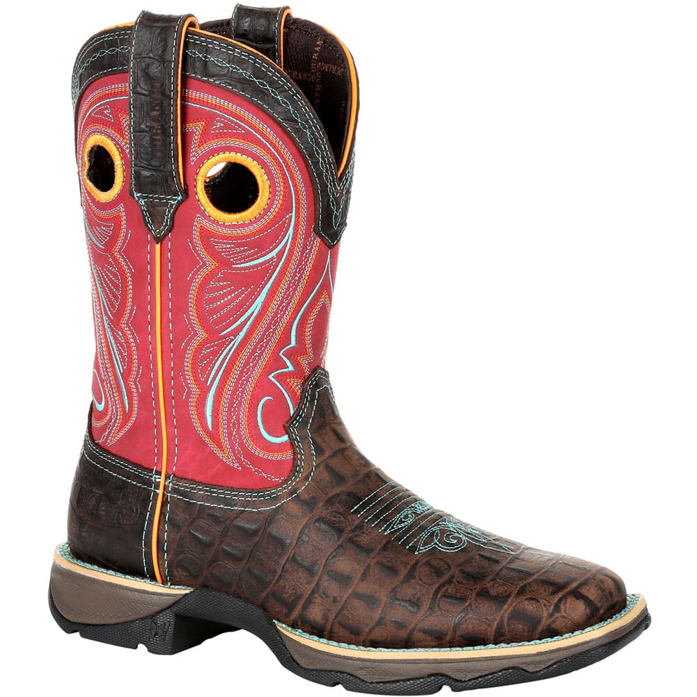 Image for Durango Women's Lady Rebel Gator Emboss Western Boots - Electric Red from elliottsboots