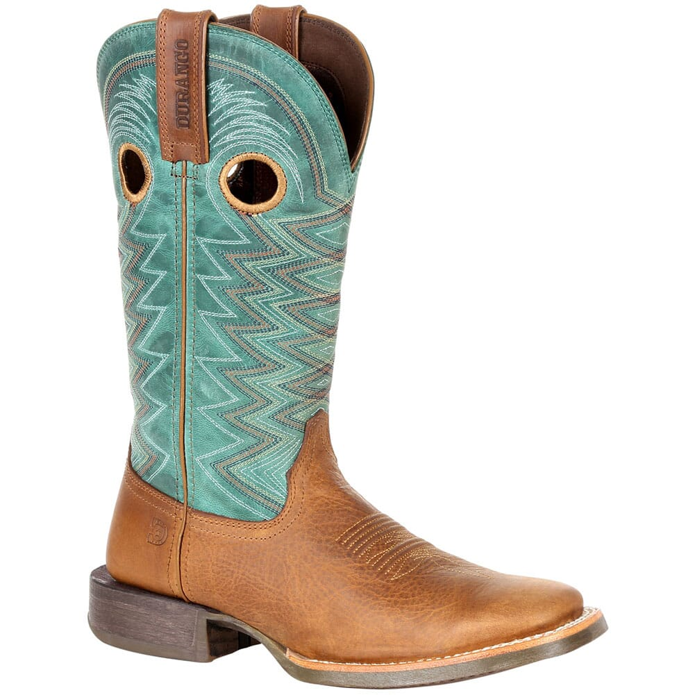 Image for Durango Women's Lady Rebel Pro Western Boots - Wheat/Tidal Teal from elliottsboots