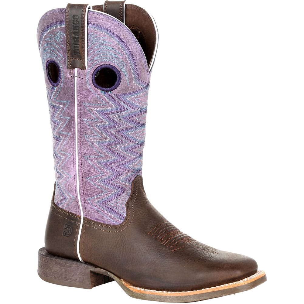 Image for Durango Women's Lady Rebel Pro Western Boots - Dark Earth/Amethyst from bootbay