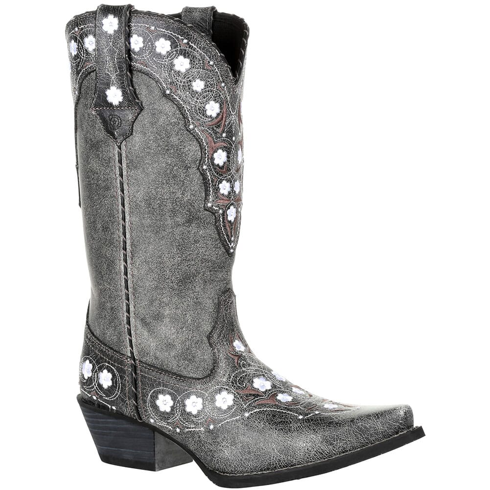 Image for Durango Women's Crush Floral Western Boots - Pewter from bootbay