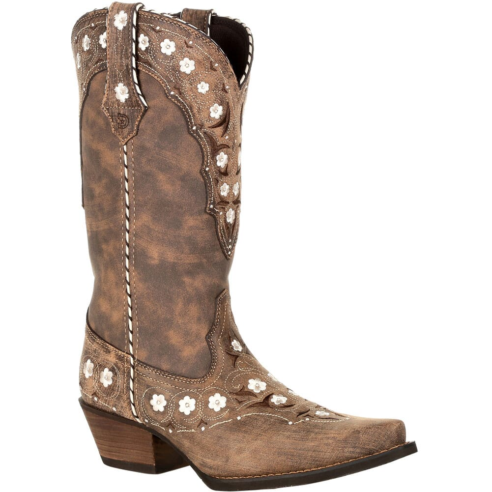Image for Durango Women's Crush Floral Western Boots - Driftwood from bootbay