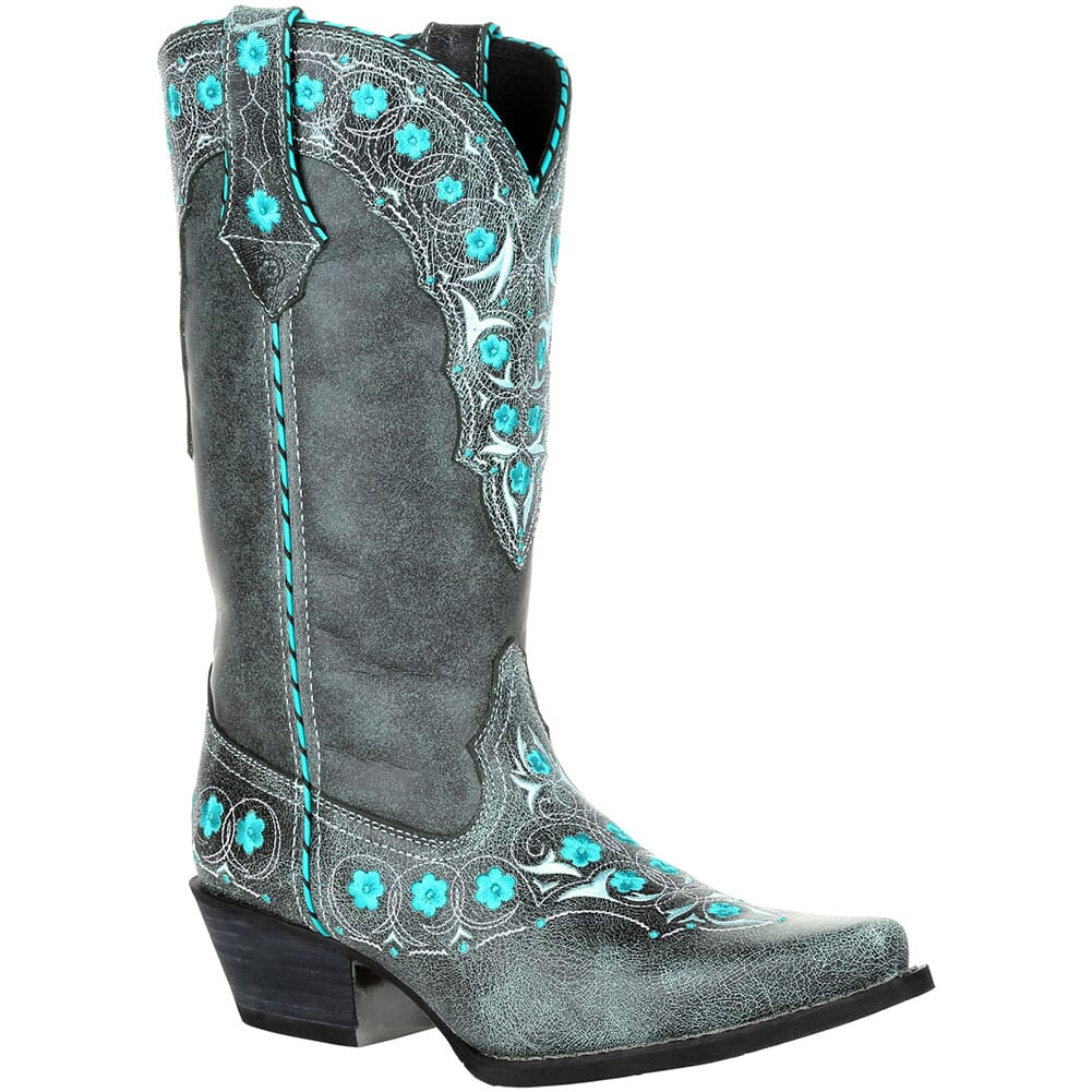 Image for Durango Women's Crush Floral Western Boots - Blue Slate from elliottsboots