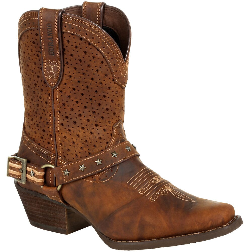 Image for Durango Women's Crush Ventilated Shortie Western Boots - Bomber Brown from elliottsboots
