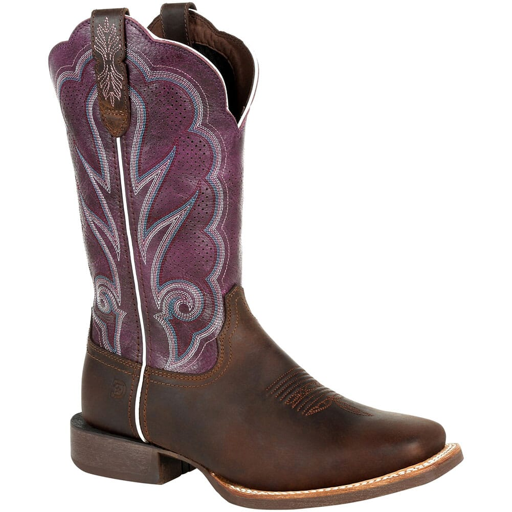 Image for Durango Women's Lady Rebel Pro Ventilated Western Boots - Oiled Brown/Pl from bootbay