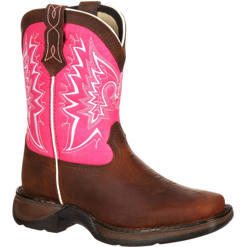 Image for Durango Lil' Toddler Let Love Fly Western Boots - Brown/Pink from bootbay