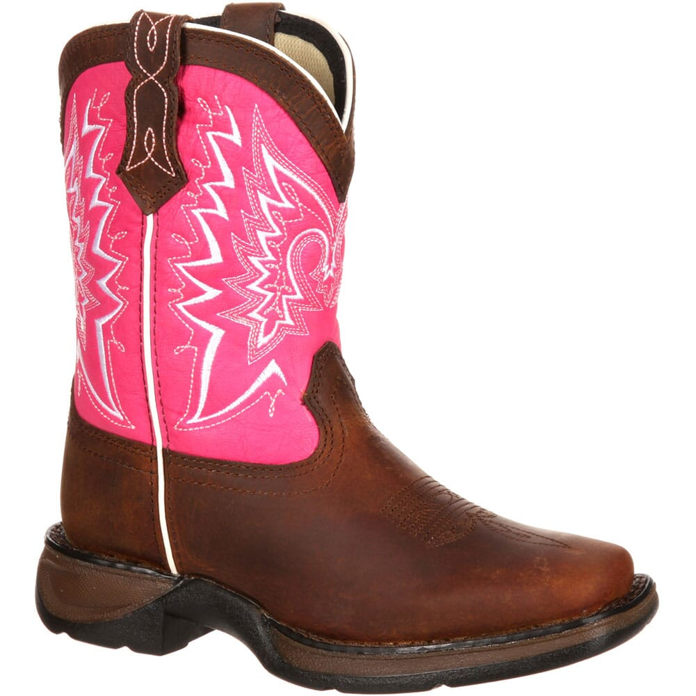 Image for Lil' Durango Big Kid Let Love Fly Western Boots - Brown/Pink from bootbay
