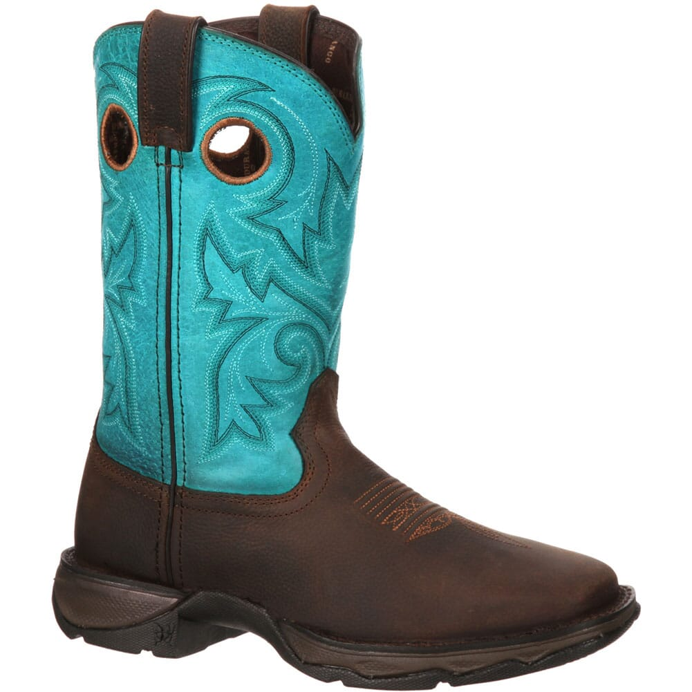 Image for Durango Women's Lady Rebel Bar None Western Boots - Brown/Turquoise from elliottsboots