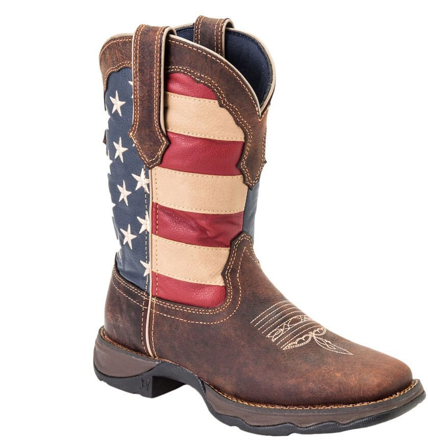 Image for Durango Women's Patriotic Western Boots - Brown from elliottsboots