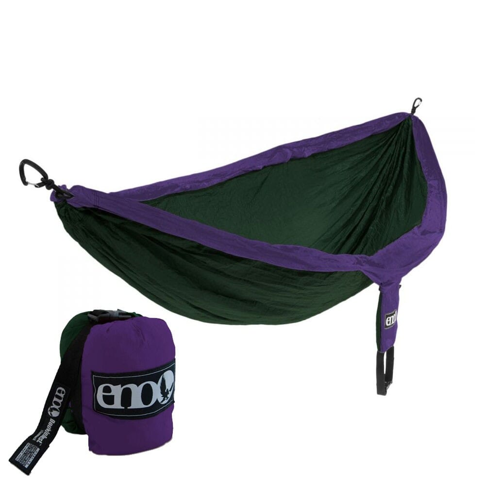 Image for ENO DoubleNest Nylon Hammock - Purple/Forest from bootbay