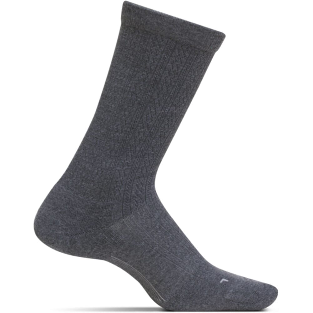 Image for Feetures Women's Texture Cushion Crew Socks - Gray from elliottsboots