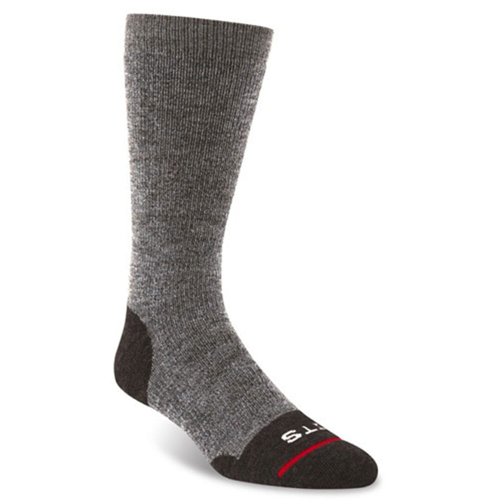 Image for FITS Men's Medium Hiker Crew Socks - Brown from bootbay
