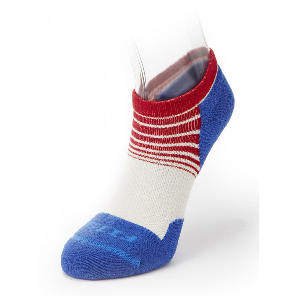 Image for FITS Light Runner (Tri-Stripe) Low Socks - Natural/Classic Blue from bootbay