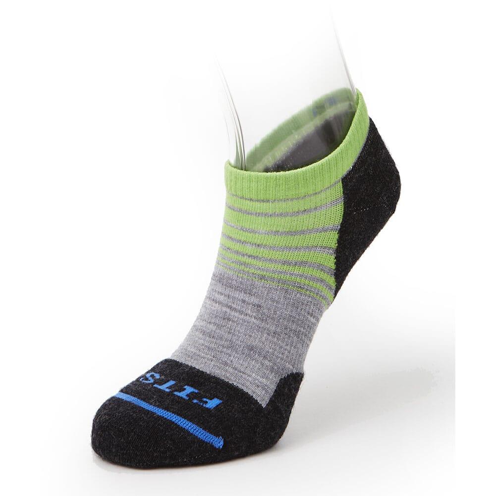 Image for FITS Light Runner (Tri-Stripe) Low Socks - Light Grey/Green Flash from bootbay
