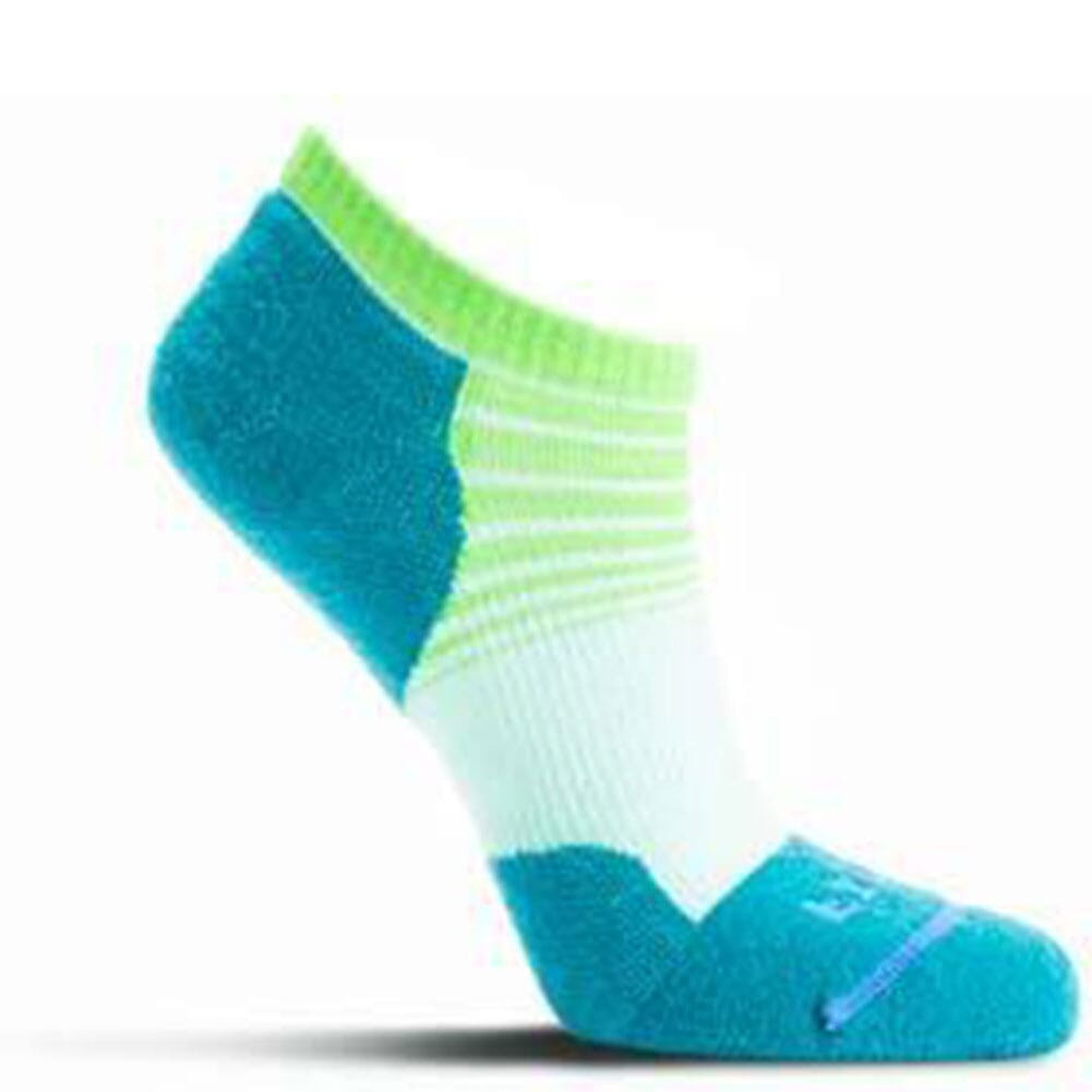 Image for FITS Women's Tri-Stripe Light Runner Low Socks - Lucite/Biscay Bay from bootbay