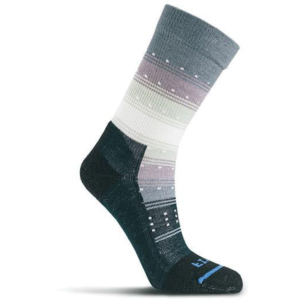 Image for FITS Women's Gradient Stripe Casual Crew Socks - Black/Natural from bootbay