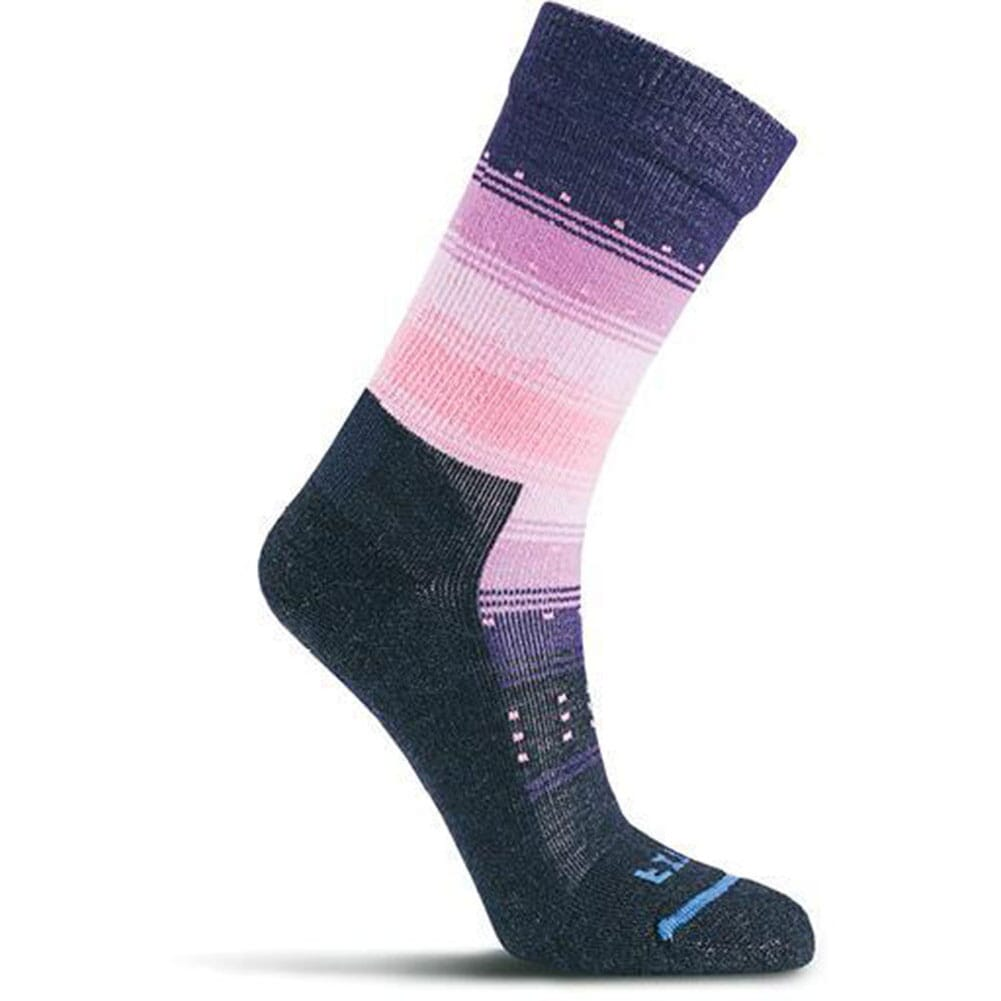 Image for FITS Women's Gradient Stripe Casual Crew Socks - Navy/Cashmere Rose from bootbay