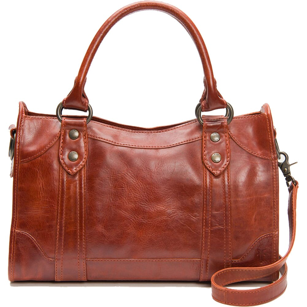 Image for FRYE Women's Melissa Satchel Handbag - Red Clay from bootbay