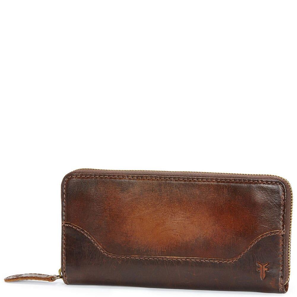 Image for Frye Women's Melissa Zip Wallet - Dark Brown from bootbay