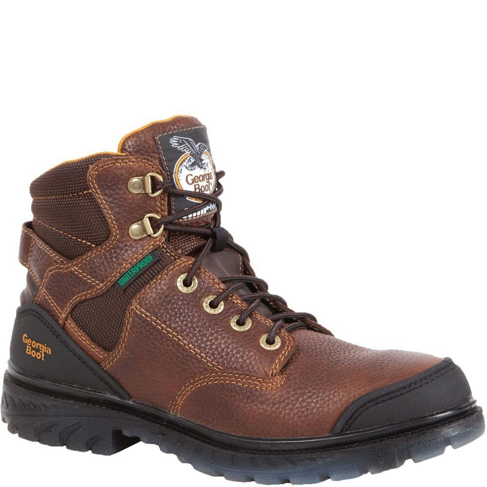 Image for Georgia Men's Zero Drag Waterproof Safety Boots - Brown from bootbay