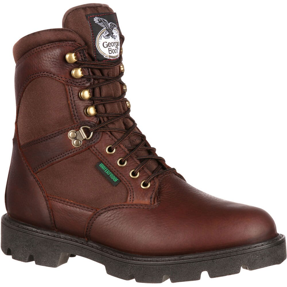 Image for Georgia Men's Homeland 8IN WP Safety Boots - Brown from bootbay