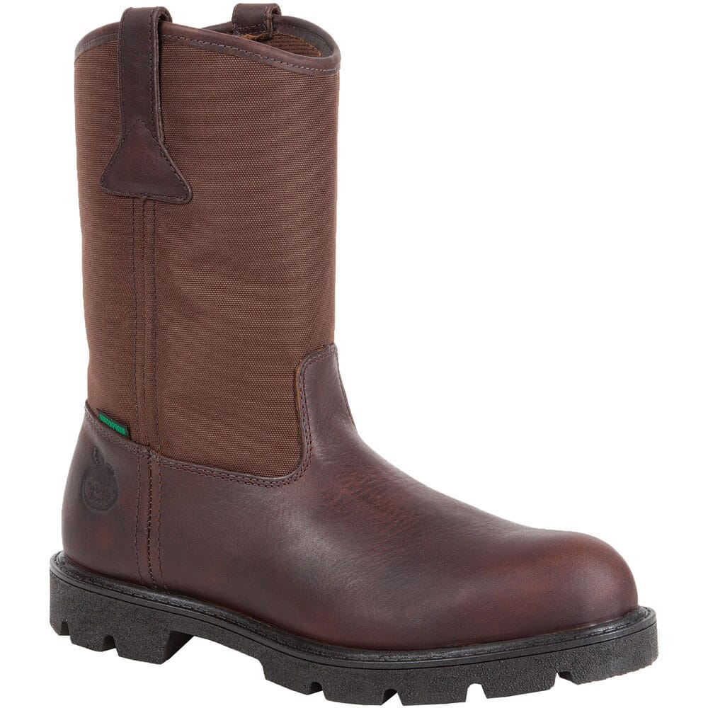 Image for Georgia Men's Homeland Pull On Safety Boots - Brown from bootbay