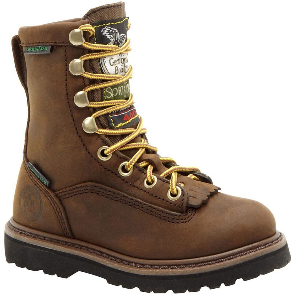 Image for Georgia Kids Waterproof Outdoor Boots - Brown from elliottsboots