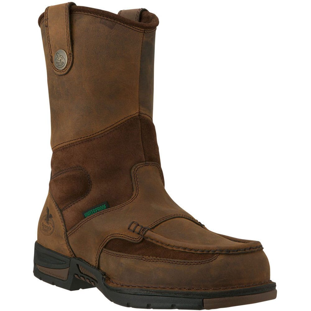 Image for Georgia Men's Athens Wellington Waterproof Safety Boots - Brown from bootbay