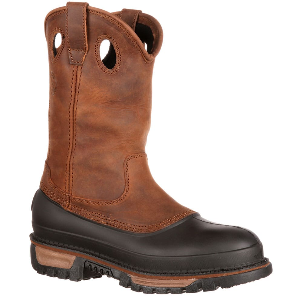 Image for Georgia Men's Muddog WP Wellington Safety Boots - Brown from bootbay
