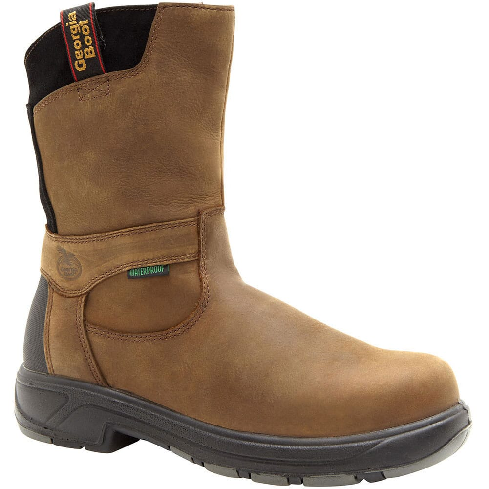 Image for Georgia Men's FLX Point PullOn Safety Boots - Brown from bootbay