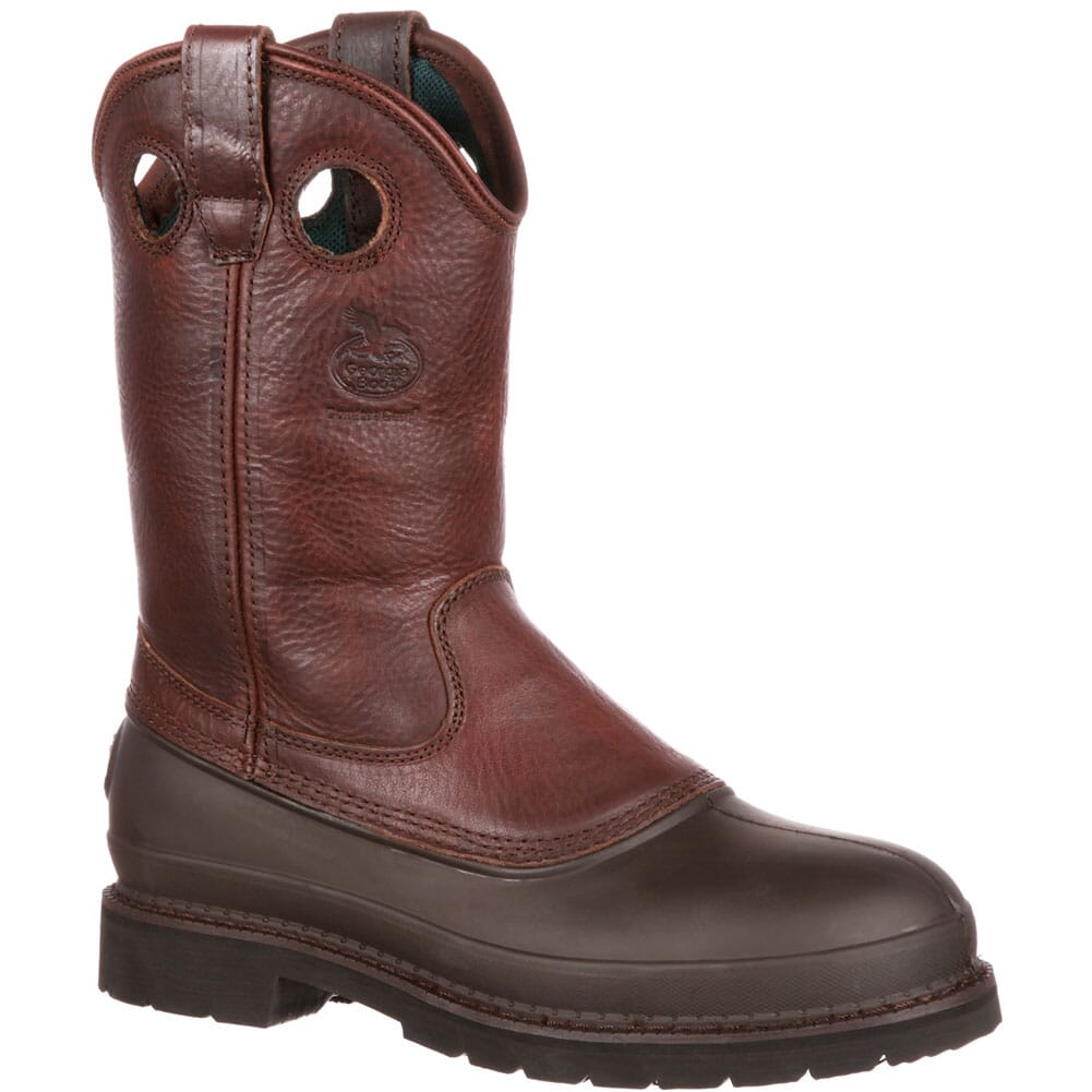 Image for Georgia Men's Mud Dog Pull-On Safety Boots - Brown from bootbay