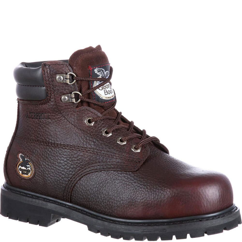 Image for Georgia Men's Oiler WP Safety Boots - Brown from bootbay