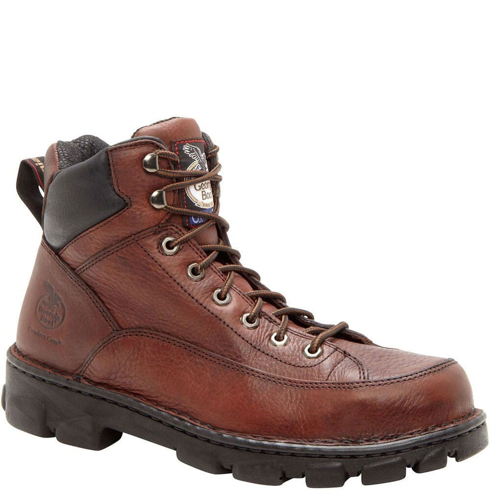 Image for Georgia Men's Eagle Light Safety Boots - Dark Brown from bootbay