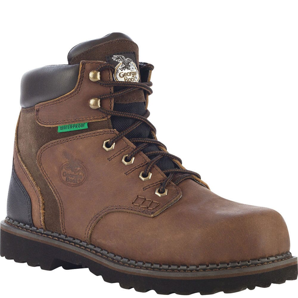 Image for Georgia Men's Brookville WP Safety Boots - Brown from bootbay